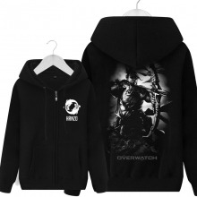 Over Watch Hanzo Hoodie For Boys Black Sweater