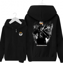 Over Watch Soldier 76 Sweater Mens Black Hoodies