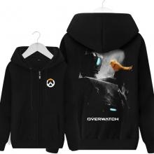 Overwatch Bastion Hooded Sweatshirts Men Black Hoodie