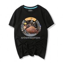 Overwatch Characters Lovely Roadhog Tshirts