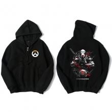 Overwatch Genji Hooded Sweatshirts Men Black Hoodie