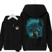 Overwatch Hanzo Hoodie Men Black Hooded Sweatshirts