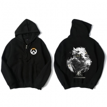 Overwatch Hanzo Hoodie For Young Black Sweat Shirt