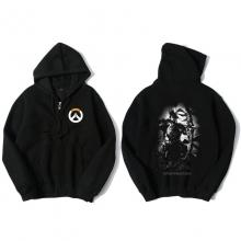 Overwatch Hanzo Sweat Shirts Mens Black Hoodie