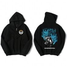 Overwatch Hanzo Sweatshirt Men Black Hoodies