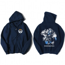 Overwatch Hero Ana Sweatshirt Men Blue Sweater