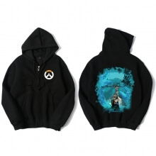 Overwatch Hero Hanzo Hoodie For Mens Black Sweatshirt