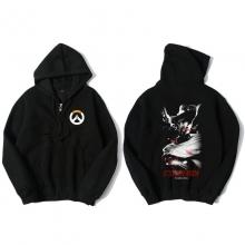Overwatch Hero Mccree Sweat Shirts Mens Black Hoodie