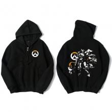 Overwatch Hero Reinhardt Sweatshirt Mens Black Hoodie