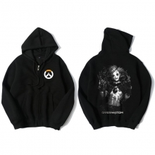 Overwatch Junkrat Hoodie For Young Black Sweat Shirt