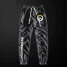 Overwatch Logo Casual Trousers Blue Sweatpants For Men