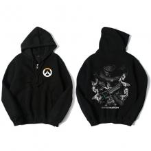 Overwatch Mccree Hooded Sweatshirts Men Black Hoodie