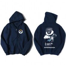 Overwatch Mei Sweater Mens Black Zip Hoodies