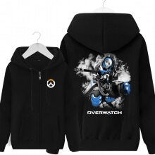 Overwatch OW Anna Hoodie Men Black Hooded Sweatshirts