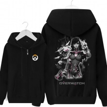 Overwatch OW D.Va Sweatshirt Mens Black Hoodie