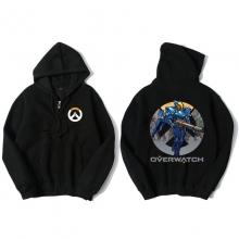 Overwatch Pharah Sweatshirt Men Black Hoodies