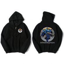 Overwatch Pharah Sweatshirt Men Black Hoodies