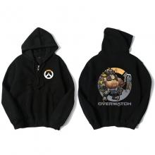 Overwatch Roadhog Hoodie For Young Black Sweat Shirt