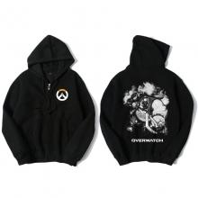 Overwatch Roadhog Hoody For Men Zipper Black Hoodie