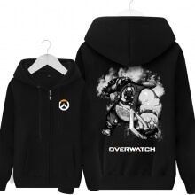 Overwatch Roadhog Sweatshirt Men Black Hoodies