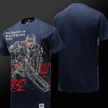 Overwatch Soldier 76 Blue T-shirt 4XL Men Boy Tee