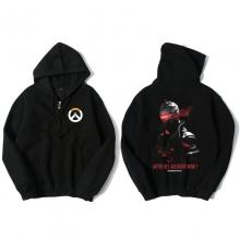Overwatch Soldier 76 Hooded Sweatshirts Men Black Hoodie