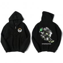 Overwatch Soldier 76 Hoody For Men Black Hoodie