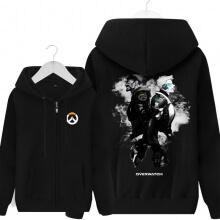 Overwatch Soldier 76 Sweatshirt Mens Black Hoodie