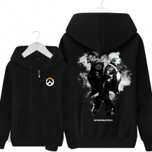 Overwatch Soldier 76 Sweatshirt Mens Black Hoodie