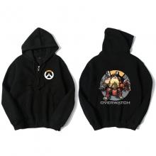 Overwatch Torbjorn Hoodie For Boys Black Sweater