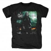Ozzy Osbourne Black Rain T-Shirt Rock Band Graphic Tees
