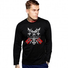 Personalized Mayhem Rock Band Tshirt Long Sleeve