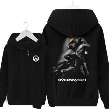 Pharah Overwatch Merch Men Black Zip Up Sweater