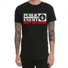 Public Enemy Rap Metal Rock T-Shirt Black