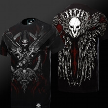 Quality 3D Overwatch Reaper T-shirt Blizzard OW 4XL Black Tees