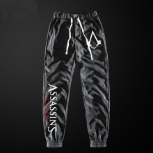 Quality Assassin's Creed Sweatpants Men Grey Pencil Pants