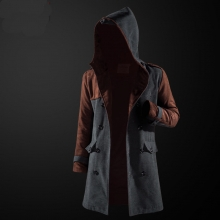 Quality Assassin's Creed Trench Coat Assassin Hooded Windbreaker Jacket