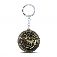 Quality Game of Thrones House Targaryen Dragon Key Chain Pendant