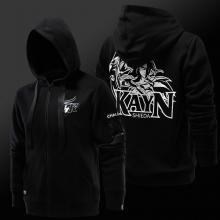 Quality League of Legends LOL Kayn Hoodie Zip Up Black Sweatshirt