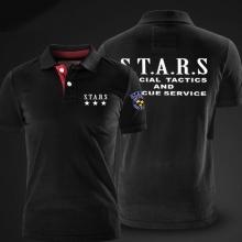 Quality Resident Evil Polo Stars Polo T Shirt Black Polo Shirts For Men