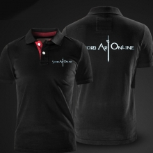 Quality Sword Art Online Polo Men Red xxl Polo Shirt