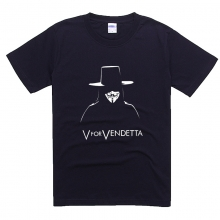 Quality V for Vendetta Navy Blue Tshirt