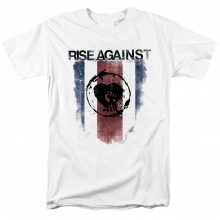 Rise Against Band shield Tee Shirts Chicago Usa Hard Rock Punk Rock T-Shirt
