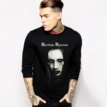 Rock Marilyn Manson Tshirt Black Long Sleeve Tee