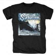 Sabaton T-Shirt Sweden Hard Rock Black Metal Tshirts