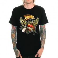 Sinner Band Rock T-Shirt Black Heavy Metal Tee