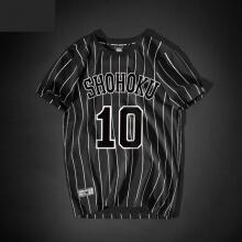 Slam Dunk Hanamichi Sakuragi No.10 striped T-shirt