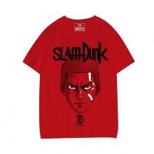 Slam Dunk Hanamichi Sakuragi T-shirt 3XL Red Shohoku No.10 Tee Shirt