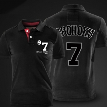 Slam Dunk Miyagi Ryota Polo Shirts Black Polo Shirt For Men