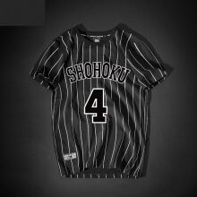 Slam Dunk No.4 Akagi Takenori Tshirt striped Black Tee